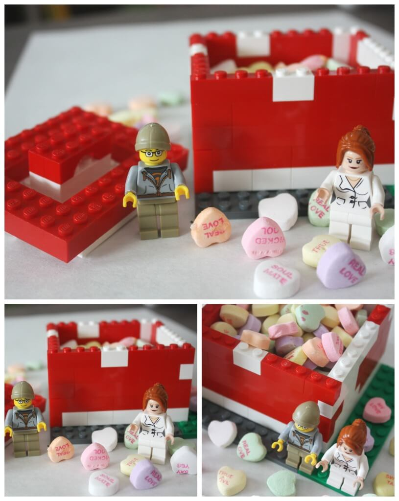 Lego Candy Box Heart STEM Activity Lego Box Building