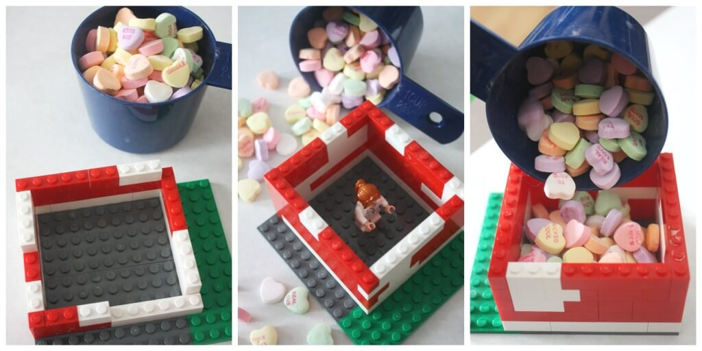 Lego Candy Box Heart STEM Engineering Lego Activity