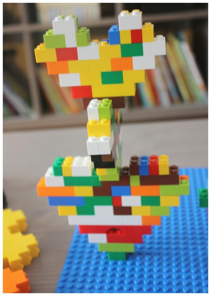 Lego Heart Engineering Building with Hearts