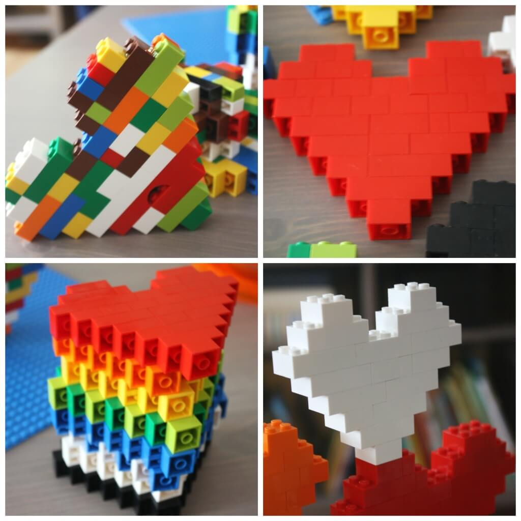 Lego Heart Engineering Multi colored Hearts Single Colored Hearts