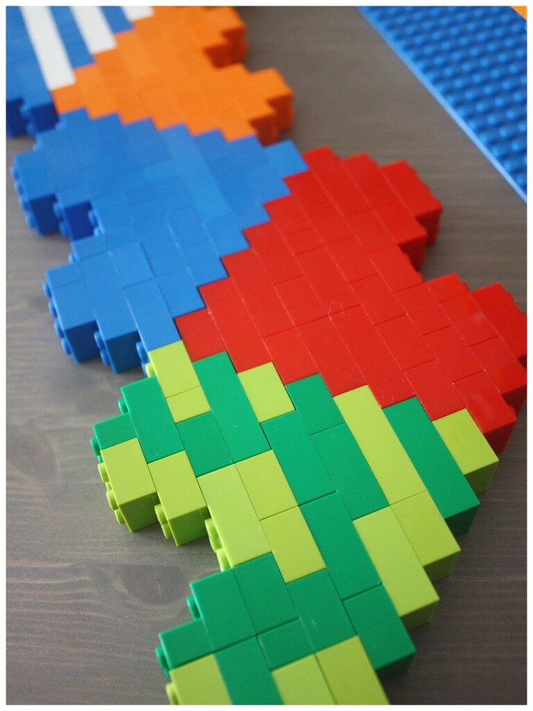 Lego Heart Engineering Puzzle Building Patterning