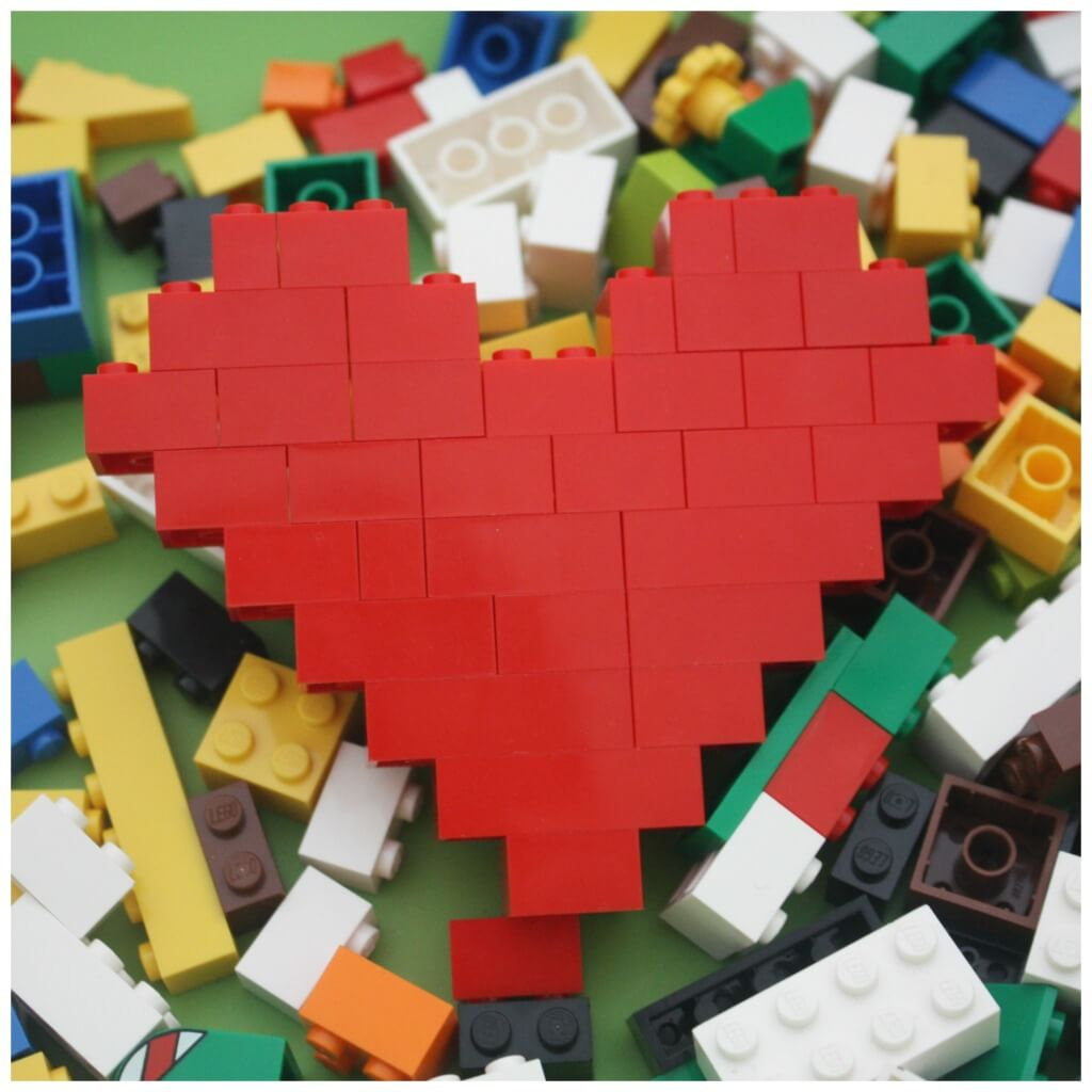 Lego Heart Engineering Set Up and Lego Heart Building