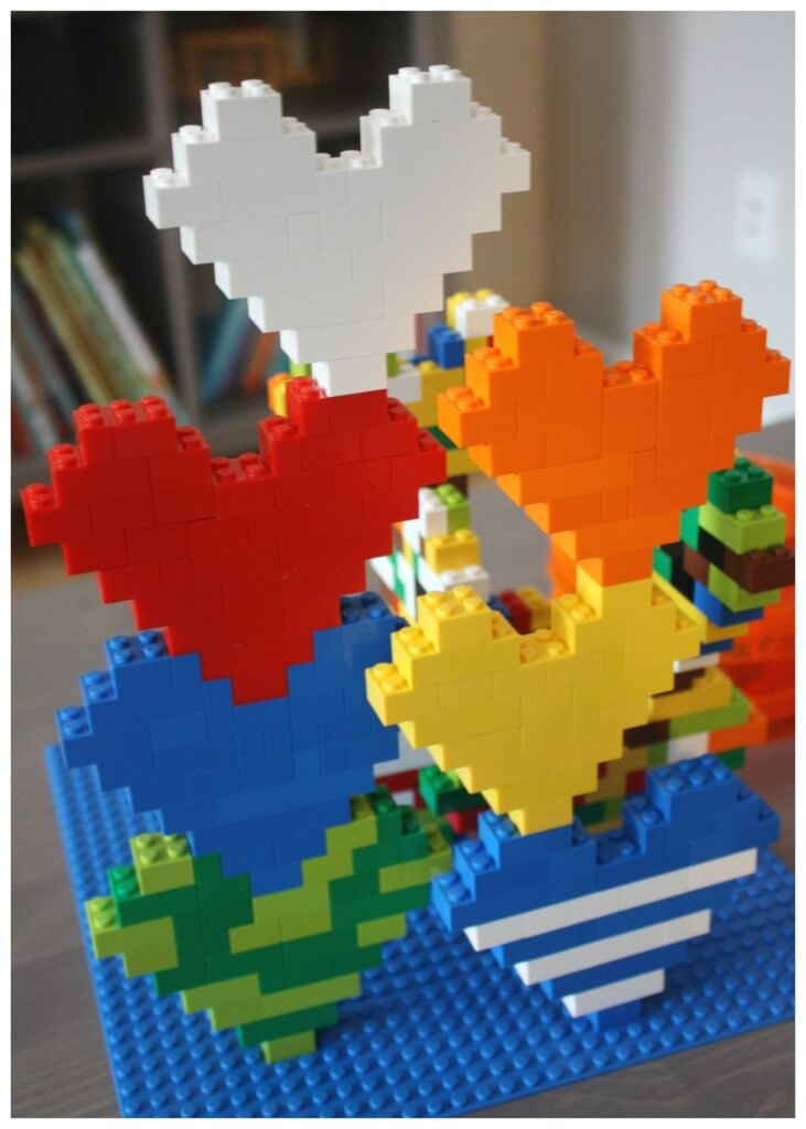 Lego Heart Stacking Lego Building Idea
