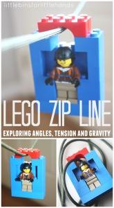 Lego Zip Line Homemade Toy Zip Line