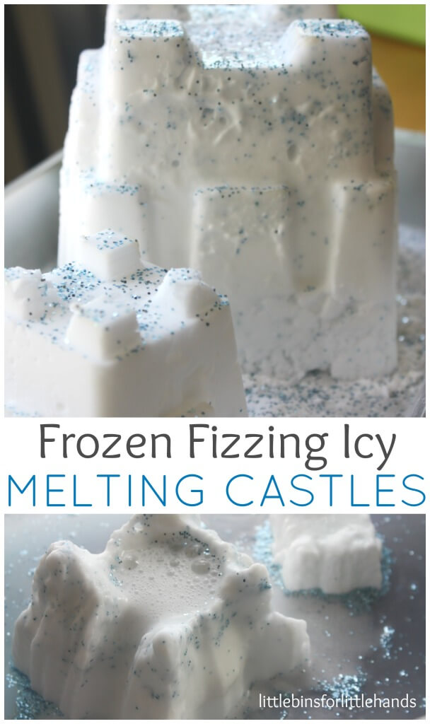 Melting Castles Frozen Baking Soda Science