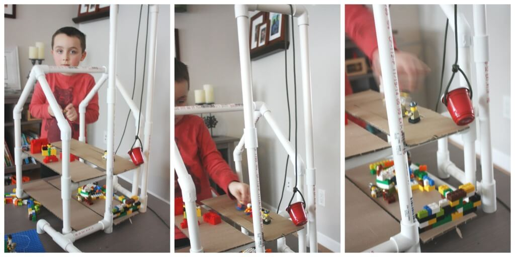 PVC Pipe Pulley System PVC Pipe House Simple Machines for Kids