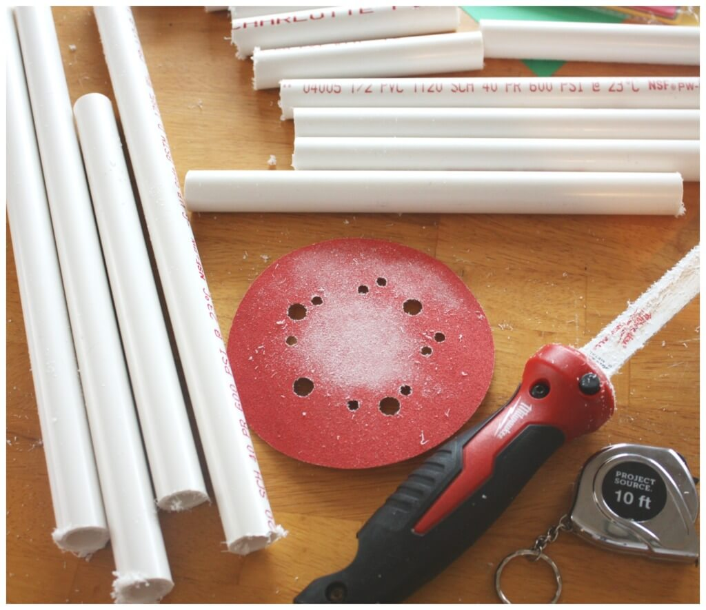 PVC pipe heart materials for building project