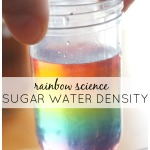 Rainbow Sugar Water Density Science Experiment