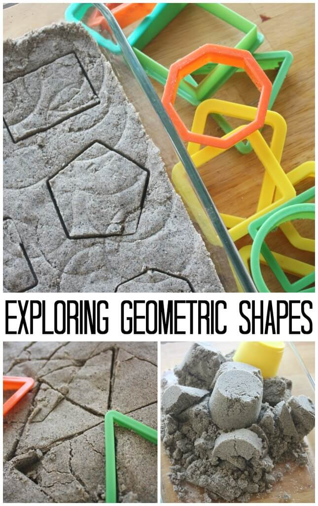 Sand Dough Exploring Geometric Shapes Sensory Play