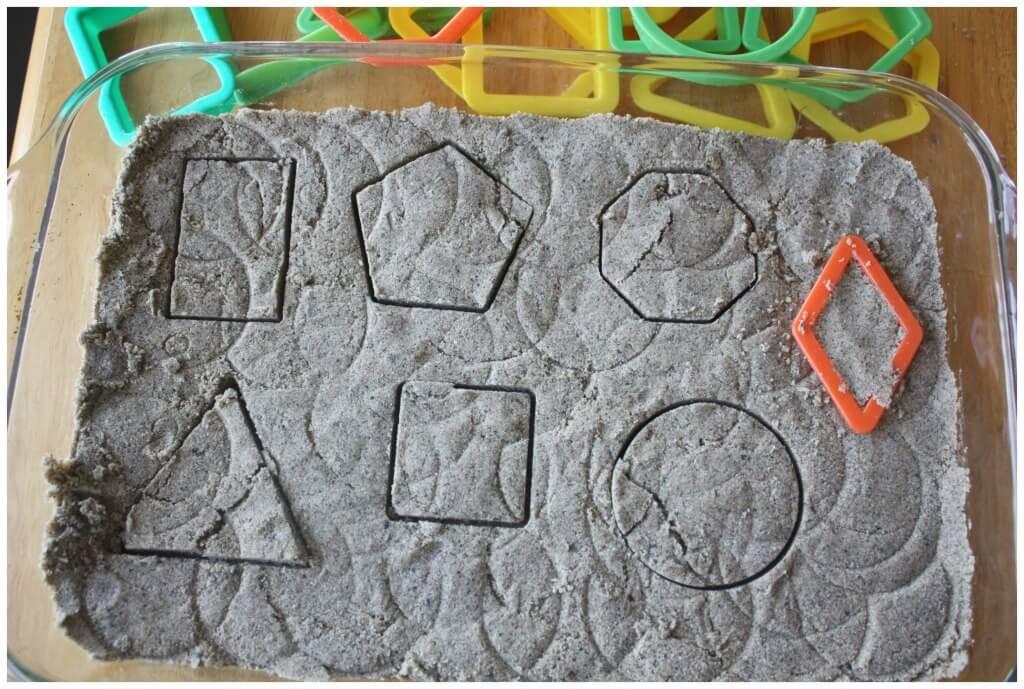 Sand Dough Geometric Shape Play