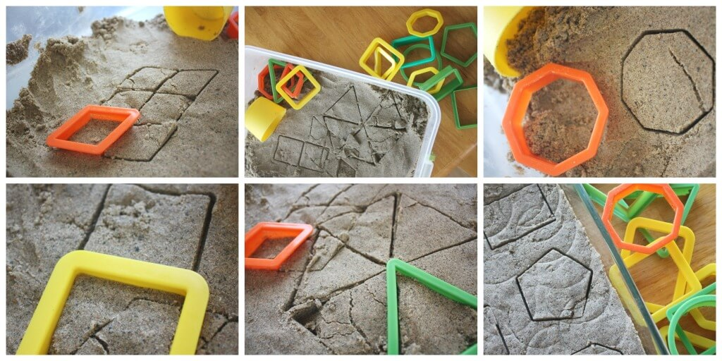 Sand Dough Sensory Play Shapes Play Geometric Shapes Activity