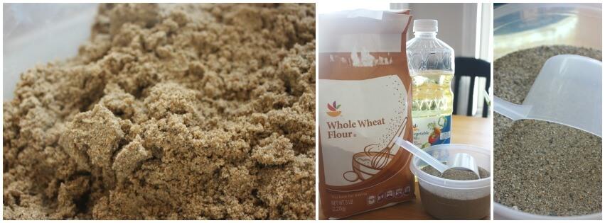Sand Dough sensory play set up