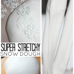Snow Dough Slime Dough Stretchy Slime Recipe Sensory Play
