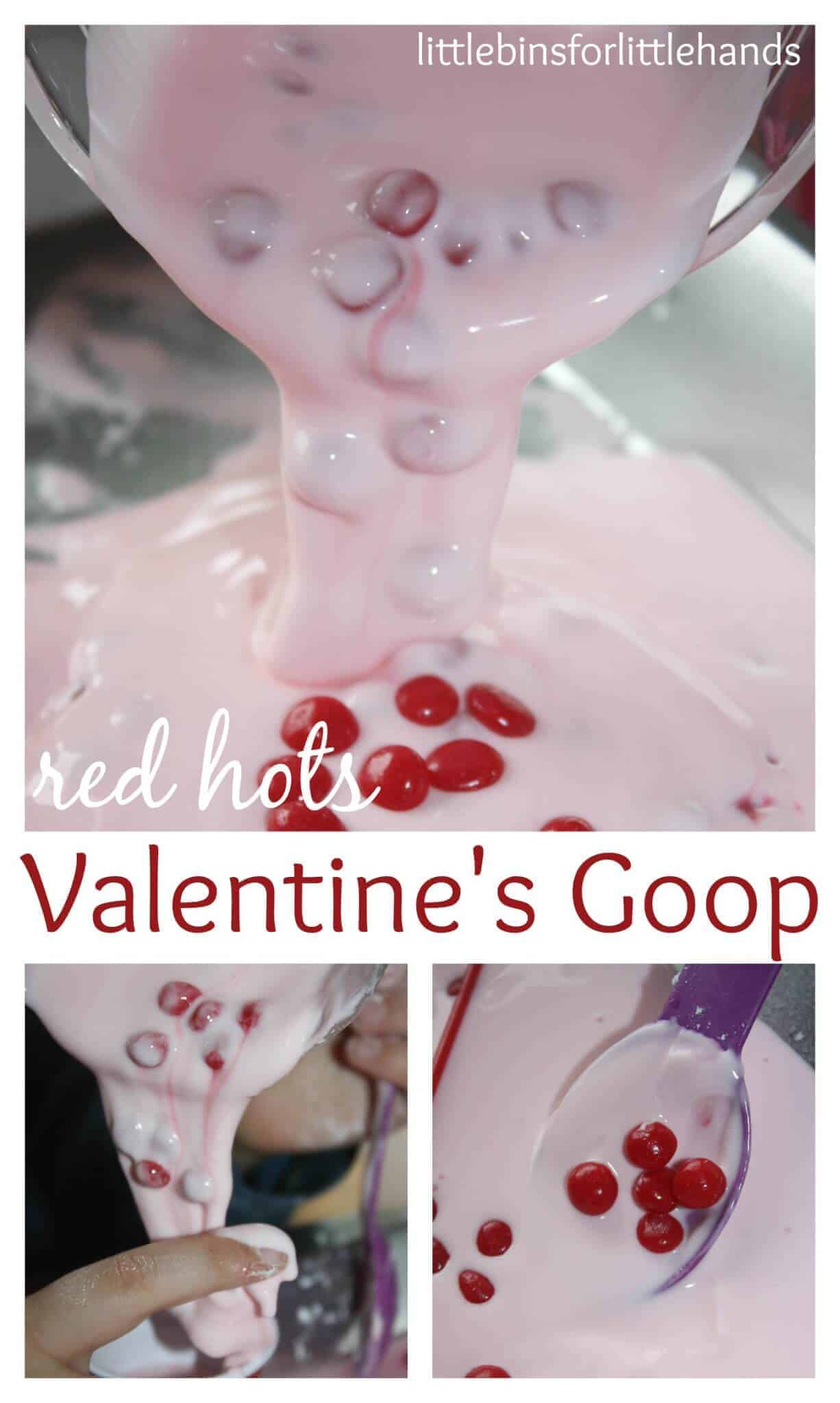 Valentines Goop Science Activity Valentines oobleck science sensory play