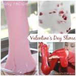 Valentines slime easy recipe
