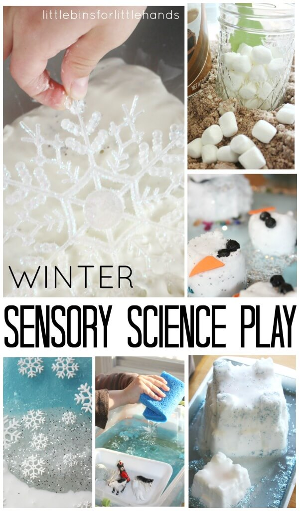 Winter Sensory Science Playful Learning Activities for kids