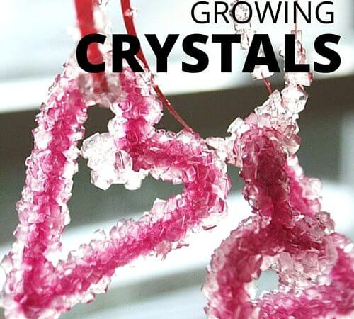 Crystal Hearts Valentines Science Experiment