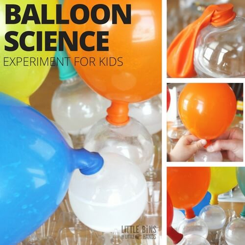 Balloon Baking Soda Science Experiment and Activity for Kids Chemistry
