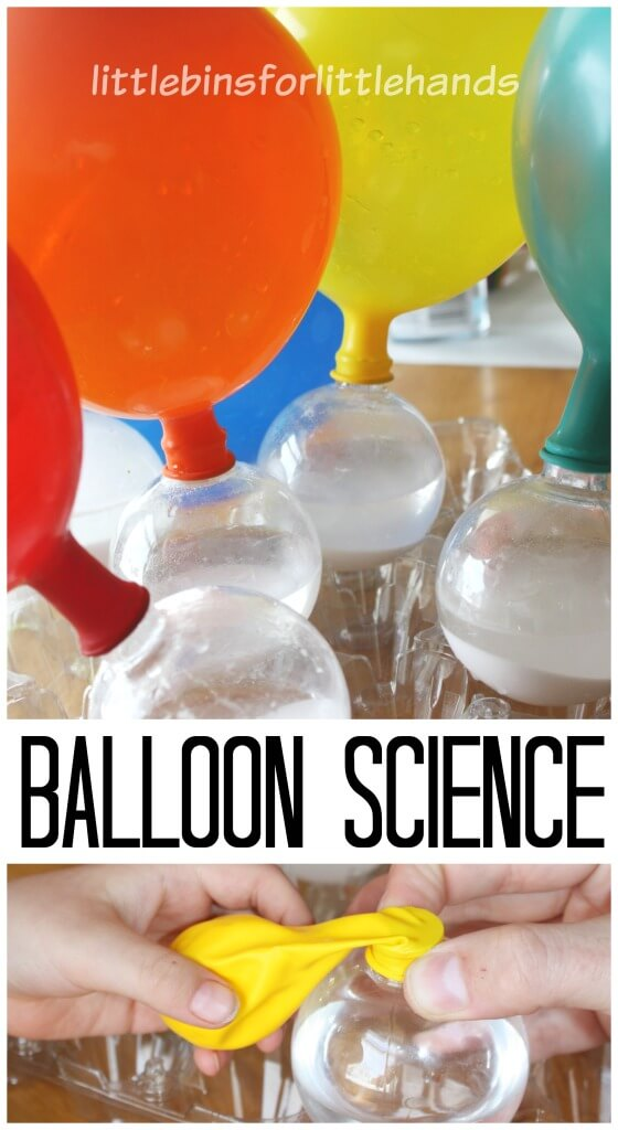Balloon Science Inflating Balloons Baking Soda Vinegar Science Activity