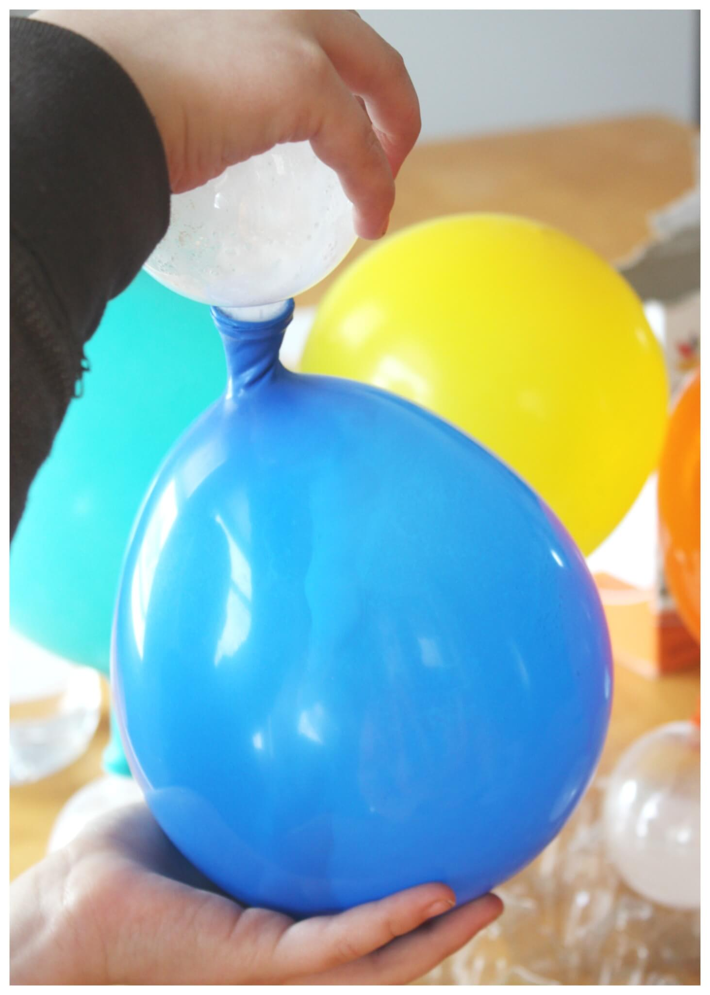 Balloon Baking Soda Vinegar Experiment Kids