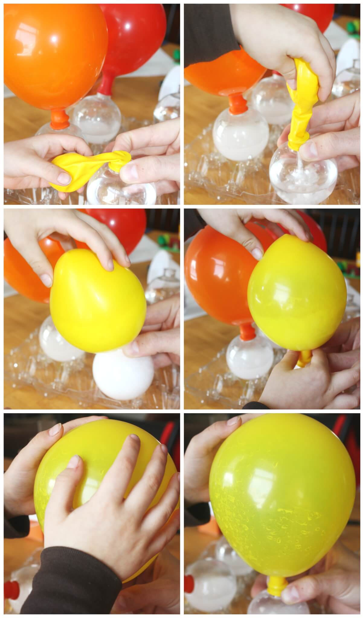 Balloon Baking Soda Vinegar Experiment Kids on Simple Science Fair Projects For 5th Graders