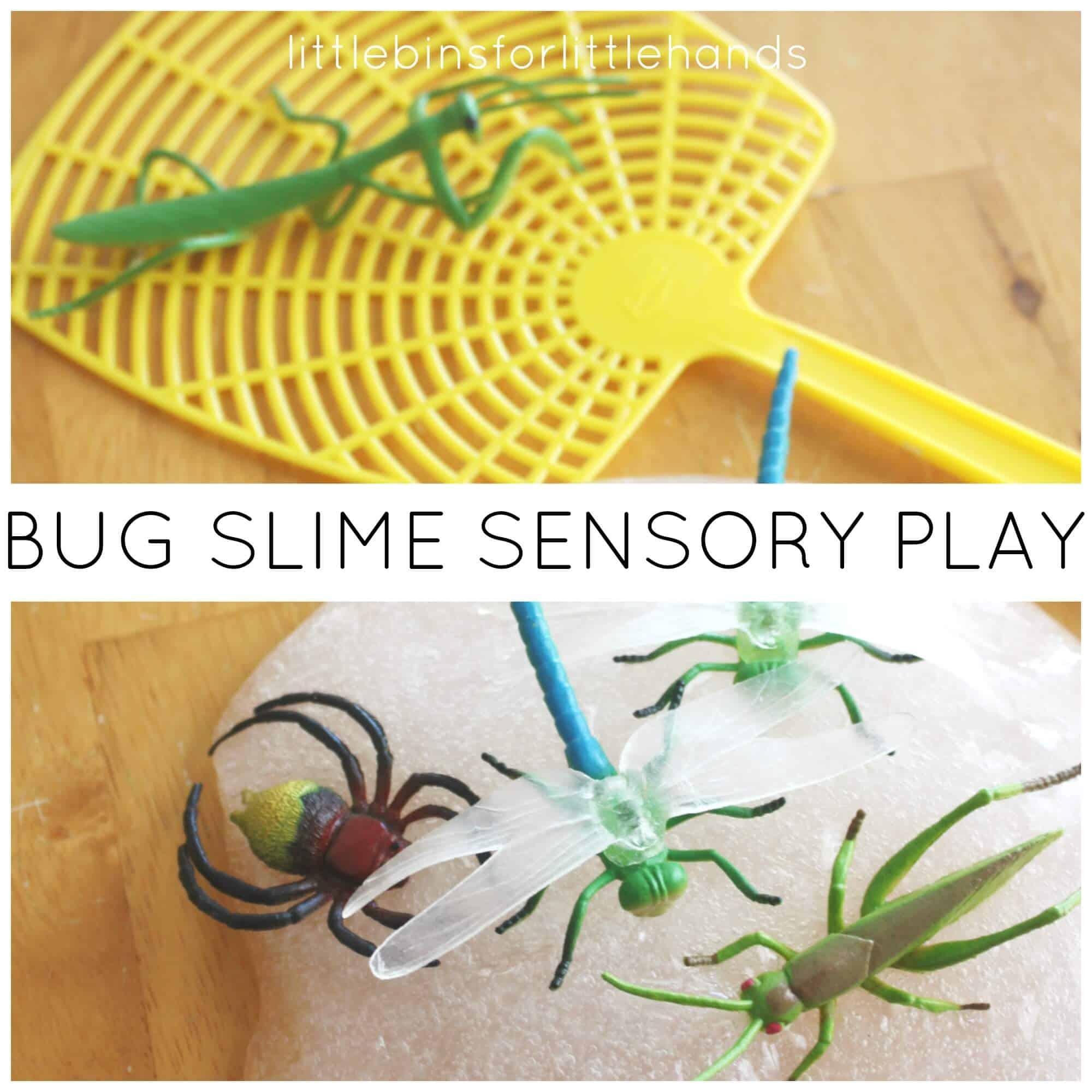 Bug Slime Science Spring Sensory Play Activity