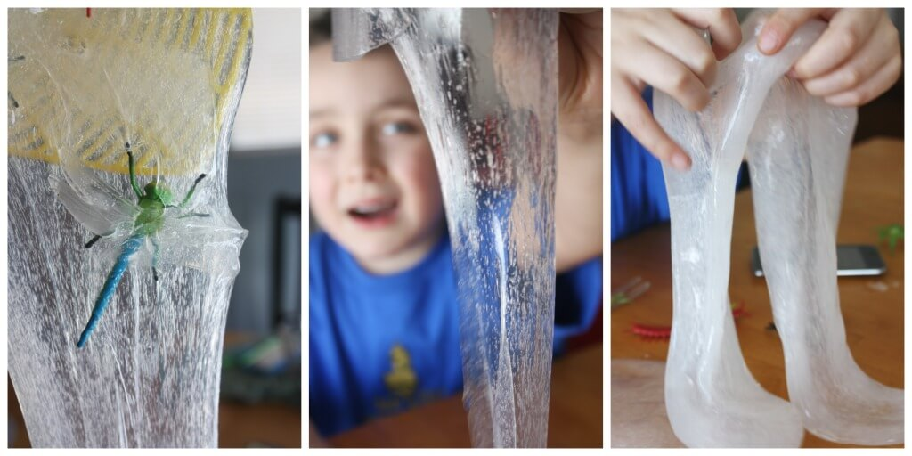 Bug slime ooze sensory play hands on science experiment