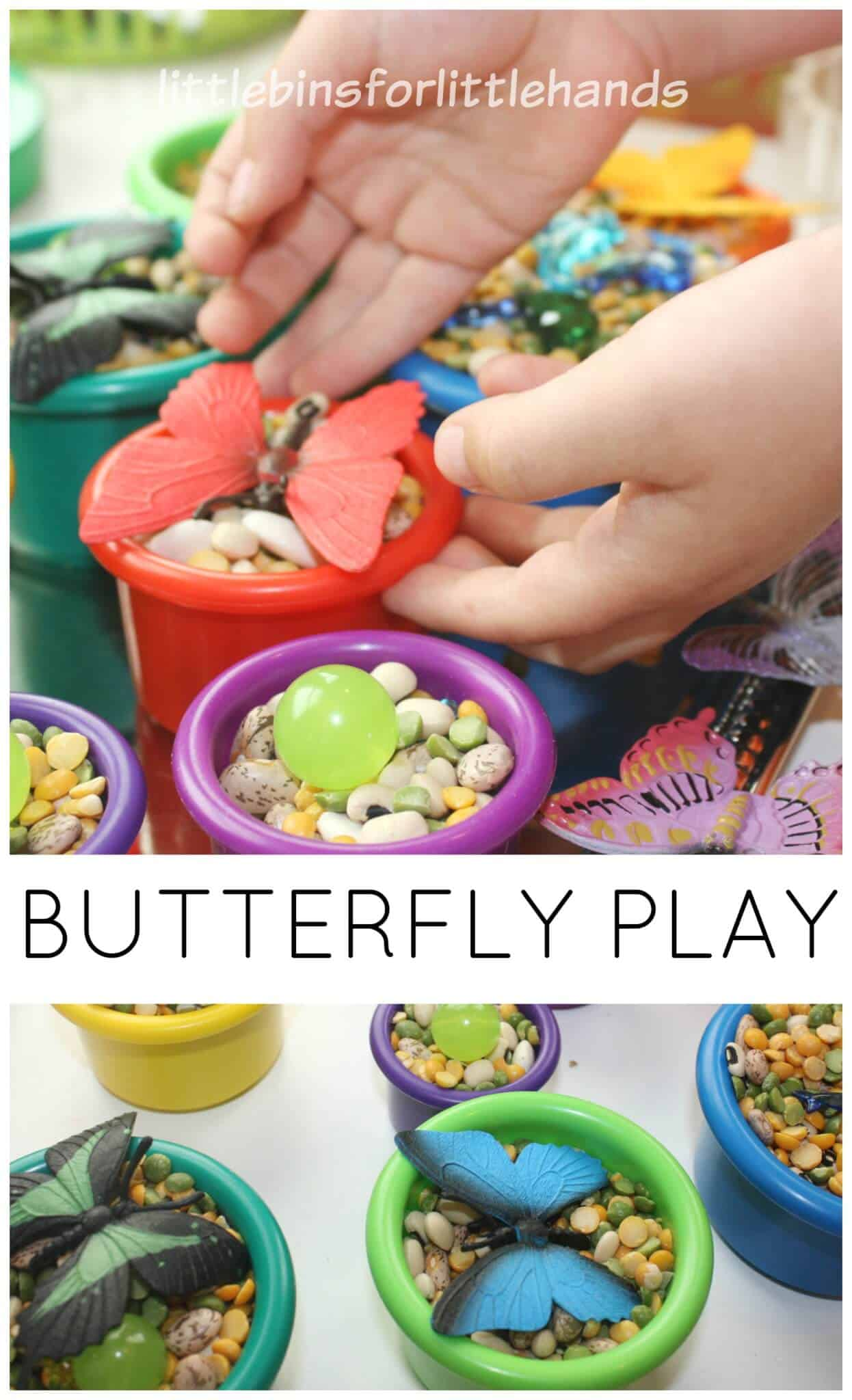 Butterfly Sensory Play Spring Fine Motor Activities