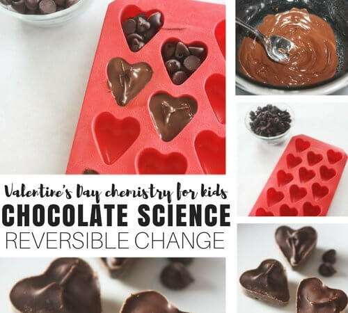 Chocolate Science Reversible Change Activity for Fun Chemistry!