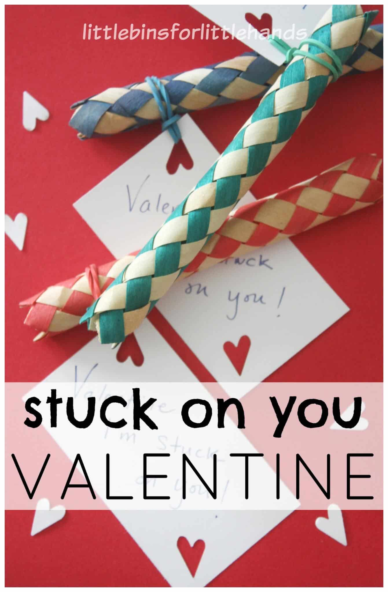 Candy Free Valentine Card for Kids Finger Trap Toy