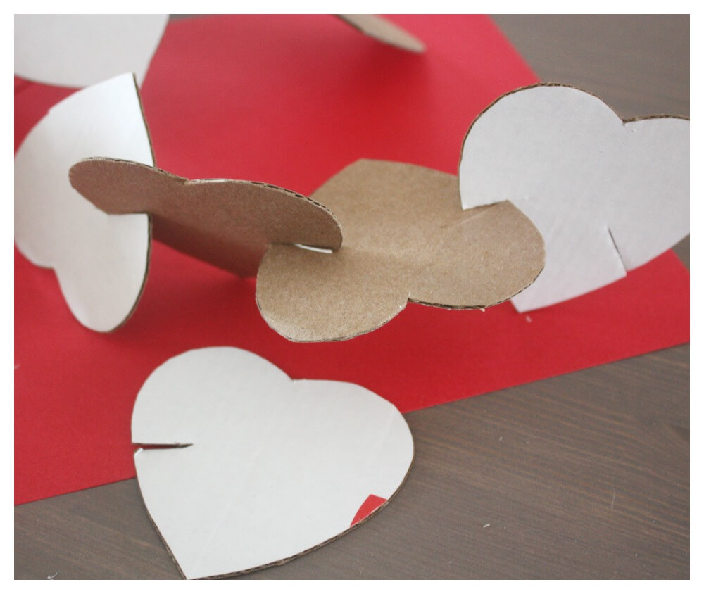 Cardboard Hearts Building Activity Connecting Hearts
