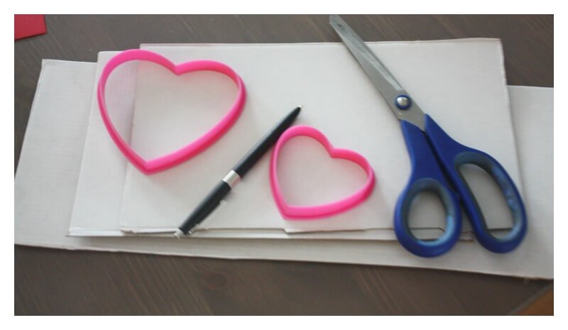 Cardboard Hearts Building Activity Materials