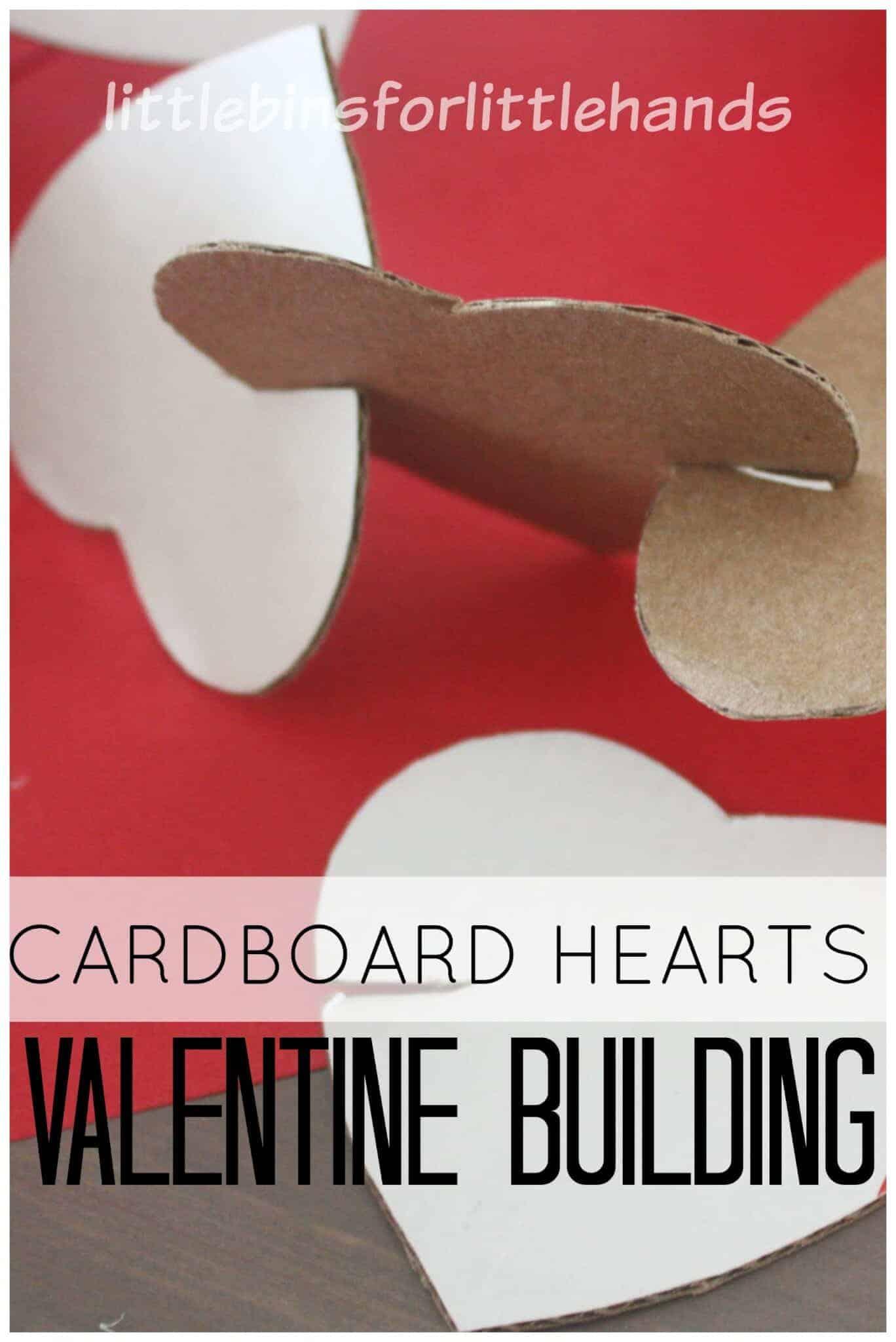 Cardboard Hearts Building Activity for Kids STEM