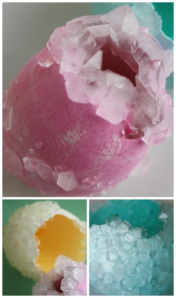 Crystal Egg Activity Pink Blue Yellow Easter Egg Science