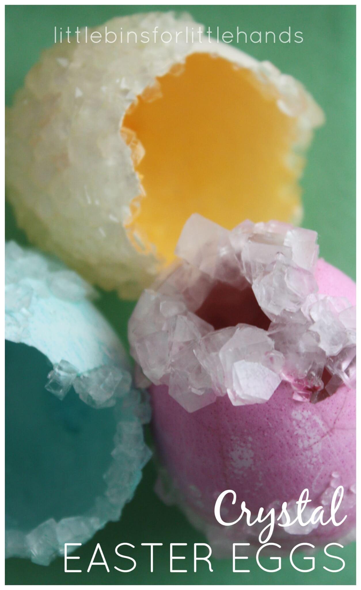 crystal eggs easter science borax crystals activity. Black Bedroom Furniture Sets. Home Design Ideas