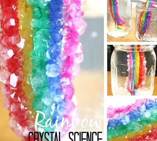 Crystal Rainbow Science Borax Crystal Growing Activity