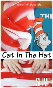 Dr Seuss Slime Cat In The Hat Slime Sensory Play