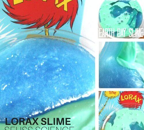 Earth Slime Lorax Activity for Science and Earth Day Activities