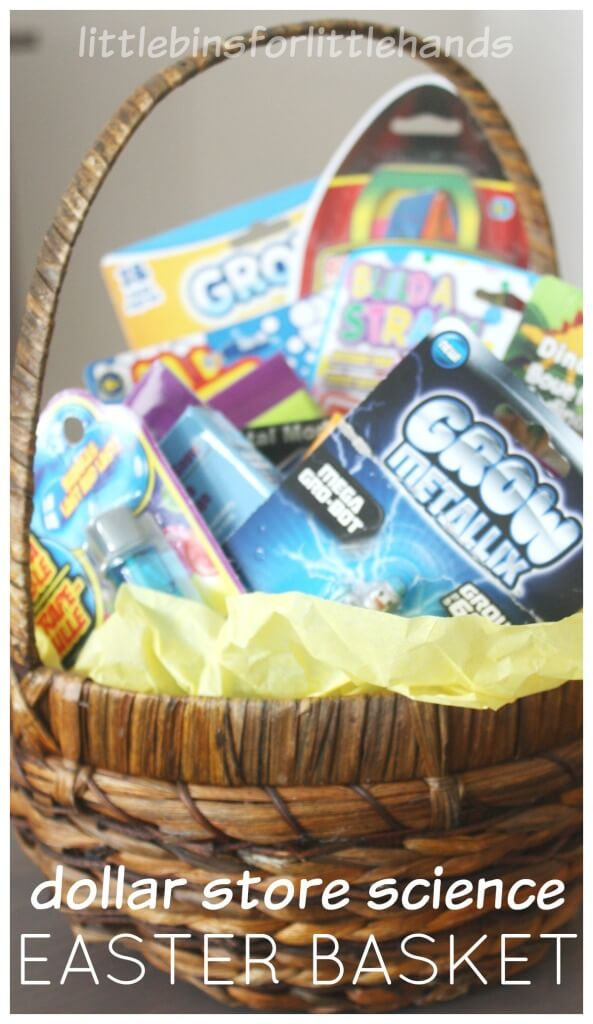Easter Basket Gift Dollar Store Science Kit