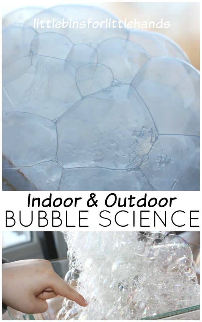 Freezing Bubbles Winter Science Activity Outdoor Bubble Play