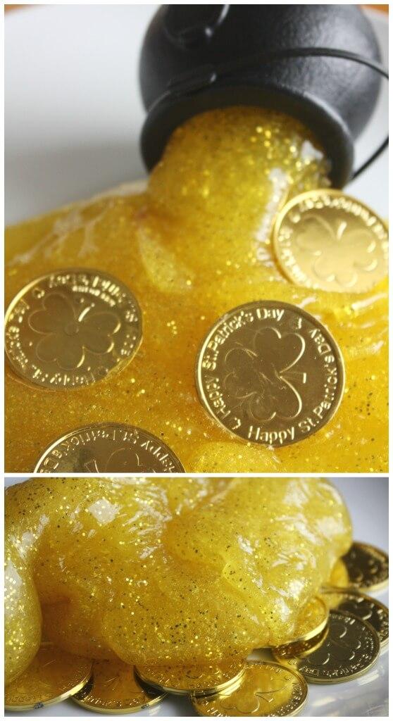 Gold Sparkle Slime Gold Slime Sensory