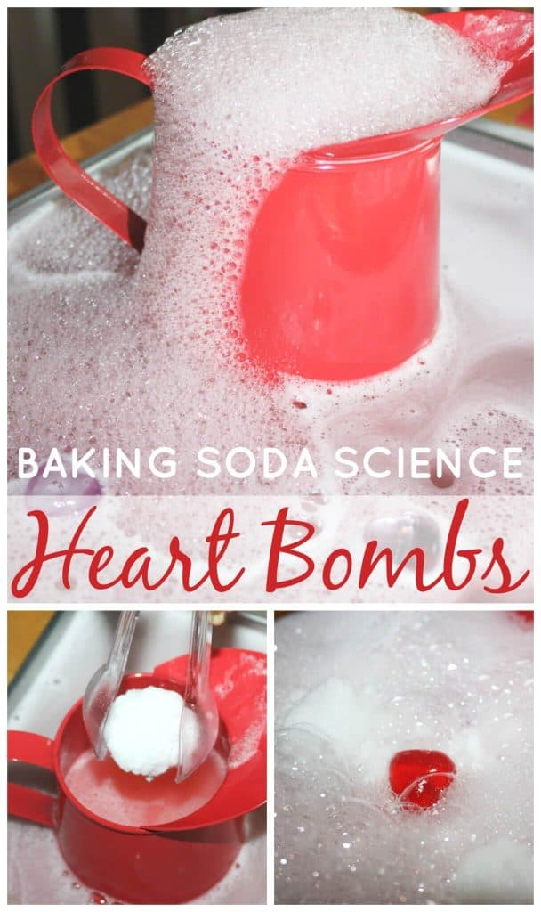 Heart Bombs Baking Soda Science Activity