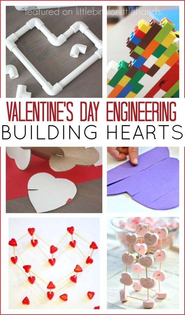 Building Hearts Valentines Day Activities