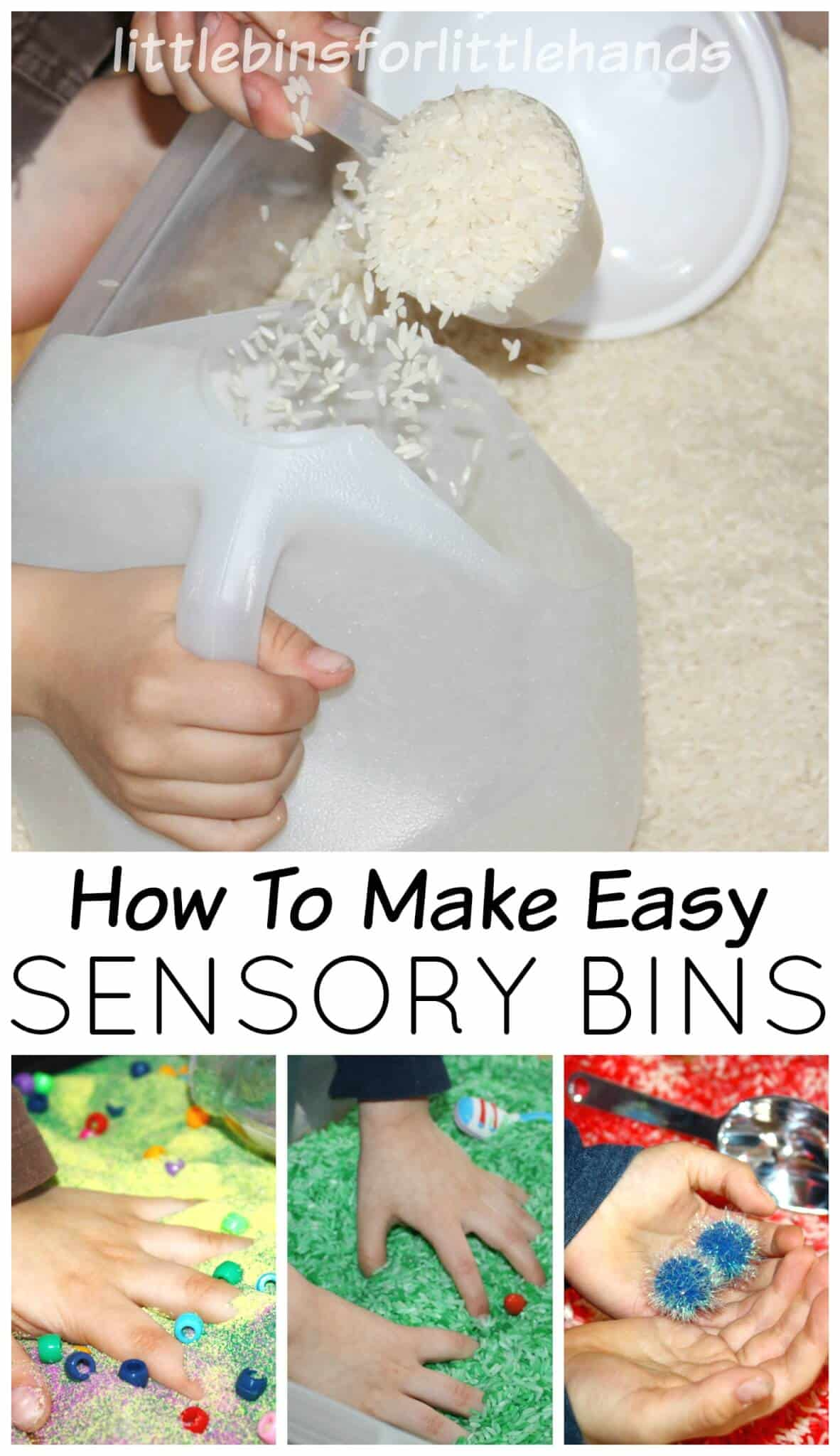 How to Make Sensory Bins for Sensory Play