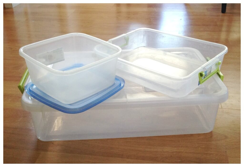 How to make sensory bins containers for sensory fillers