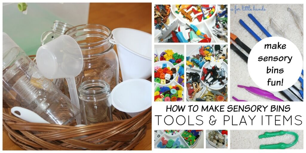 How to make sensory bins tools and play items