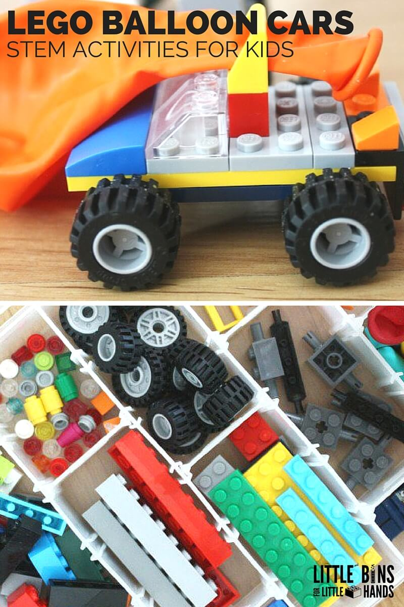 Make A LEGO Balloon Car | Little Bins for Little Hands