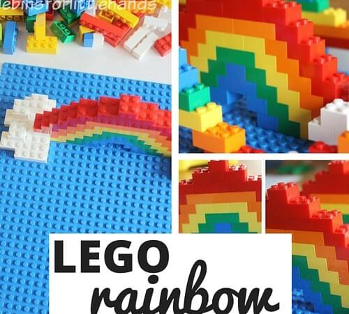 LEGO Rainbow Build Challenge for Kids
