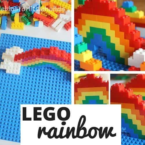 LEGO rainbow activity