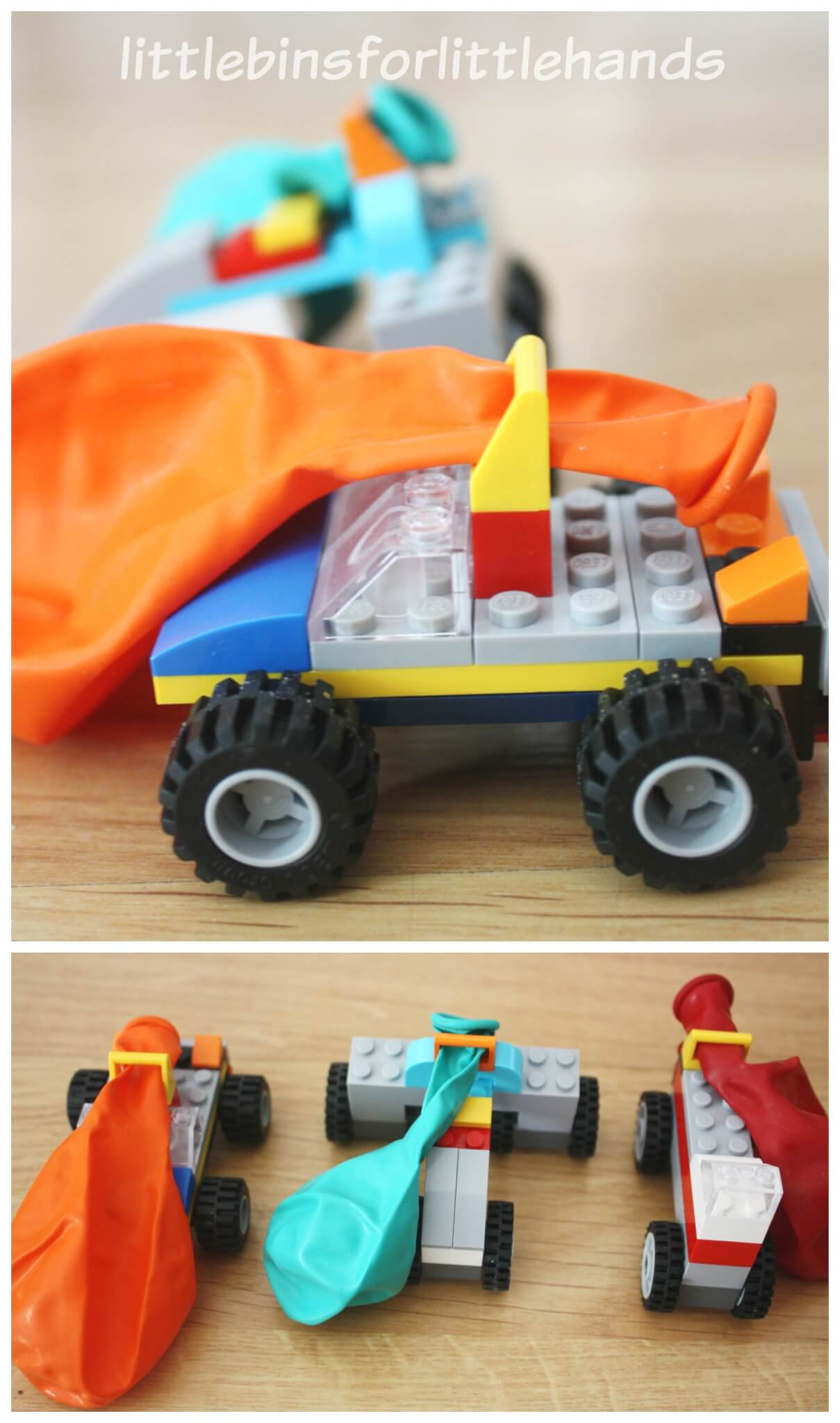 Lego Balloon Car Building Activity Race Cars Kit